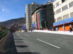 Nueva vista de la Mariscal Santacruz  cerca de La calle Potosi