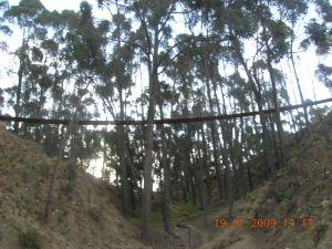 Puente colgante vista inferior