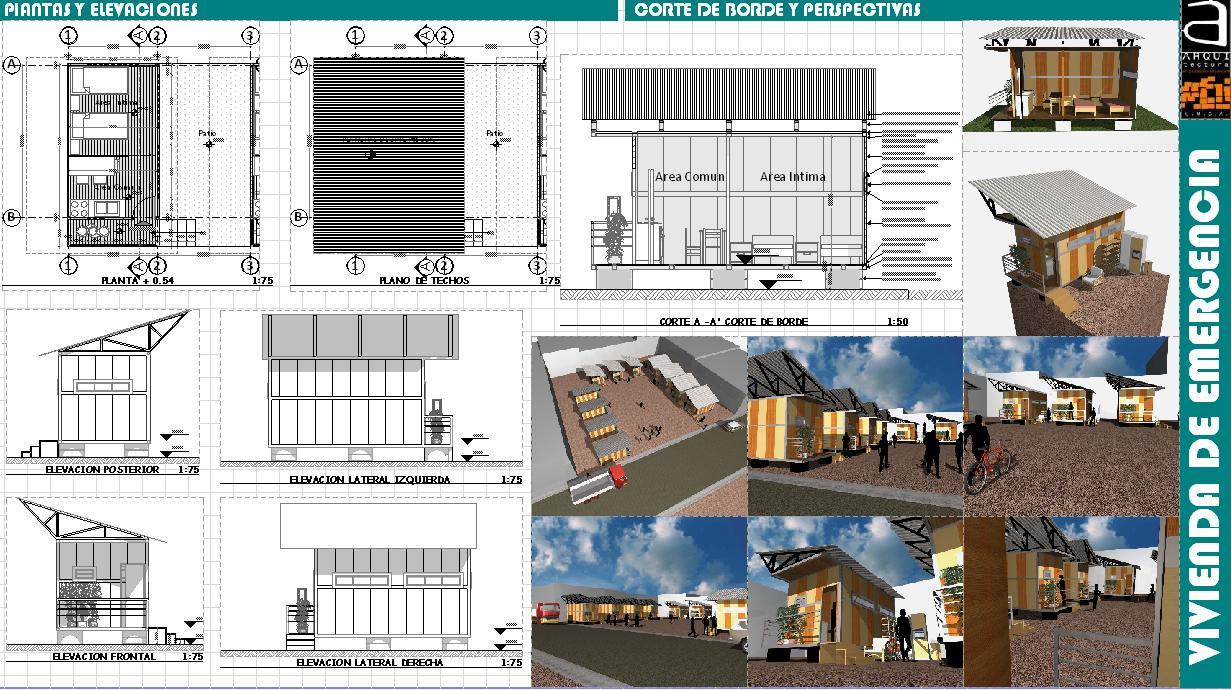 Vivienda de emergencia grupo luge unratomas 39 s blog for Arquitectura nota de corte
